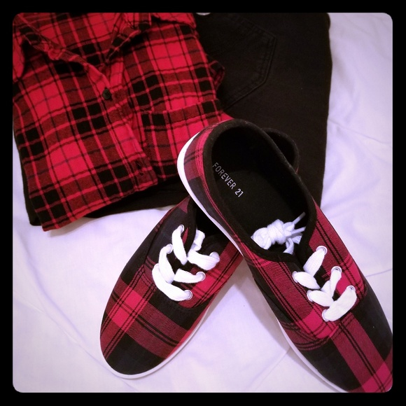 Forever 21 Shoes - Forever 21 plaid sneakers